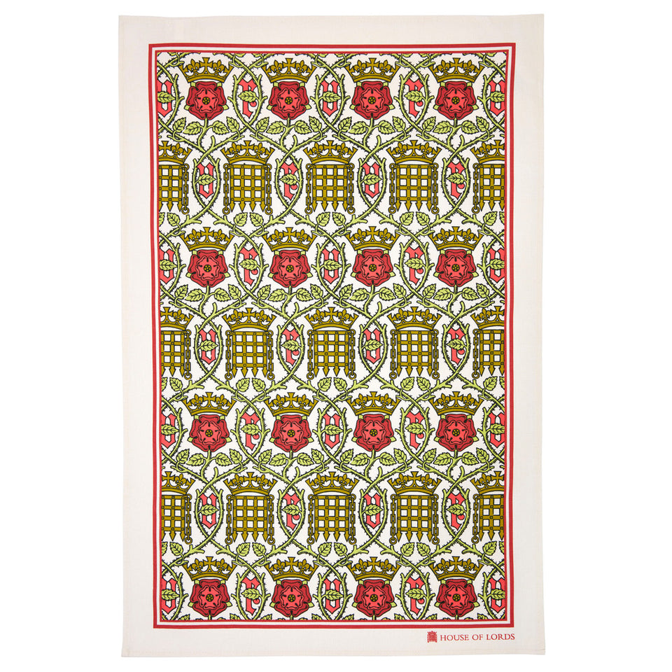 House of Lords Tudor Rose Tea Towel featured image