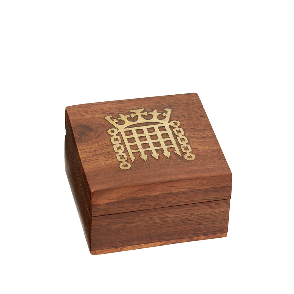 Small Fairtrade Wooden Portcullis Box