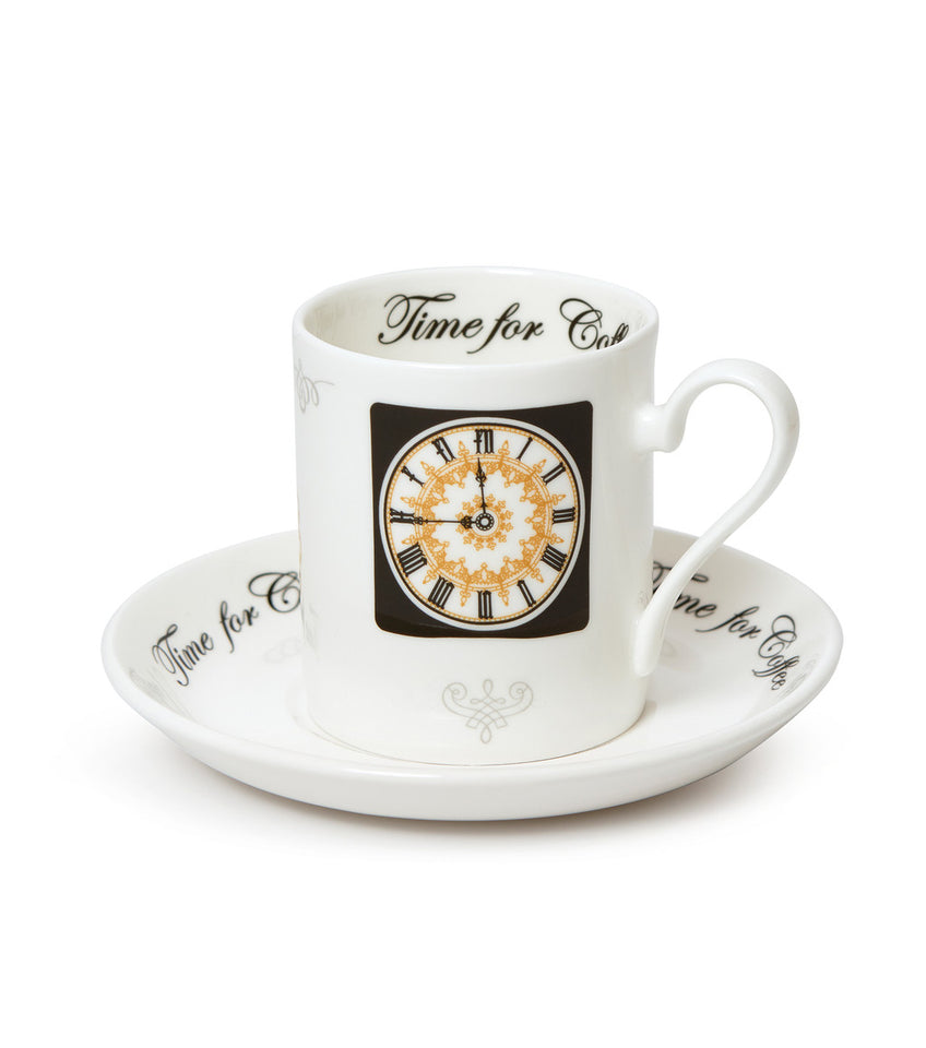 Clock Face Espresso Cup and Saucer featured image