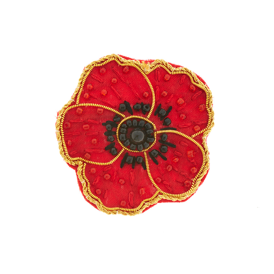 Handmade Poppy Brooch featured image