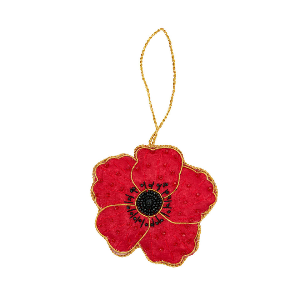 Beaded Poppy Tree Ornament featured image