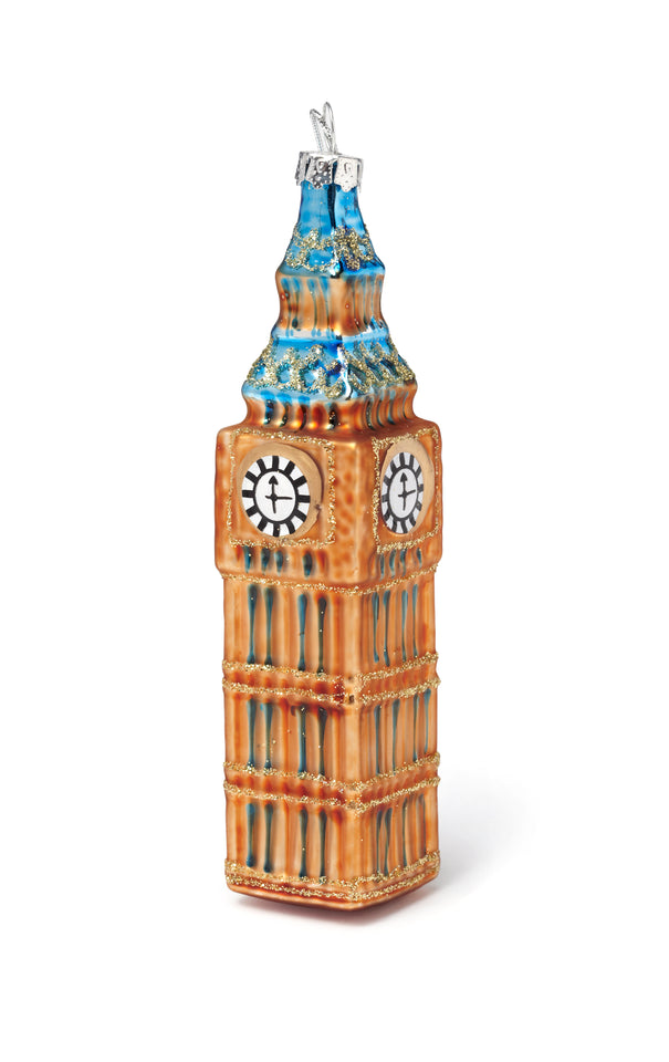 Glass Big Ben Tree Ornament