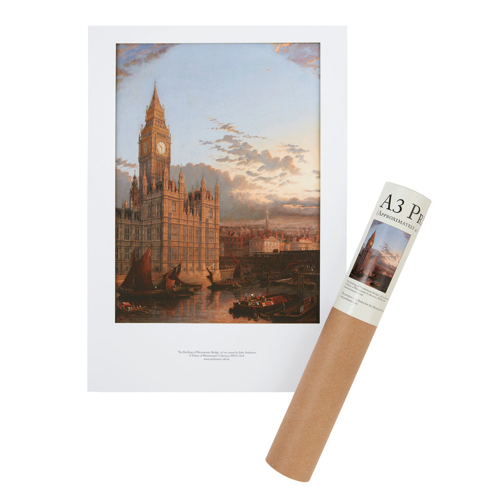 The Building of Westminster Bridge A3 Print featured image