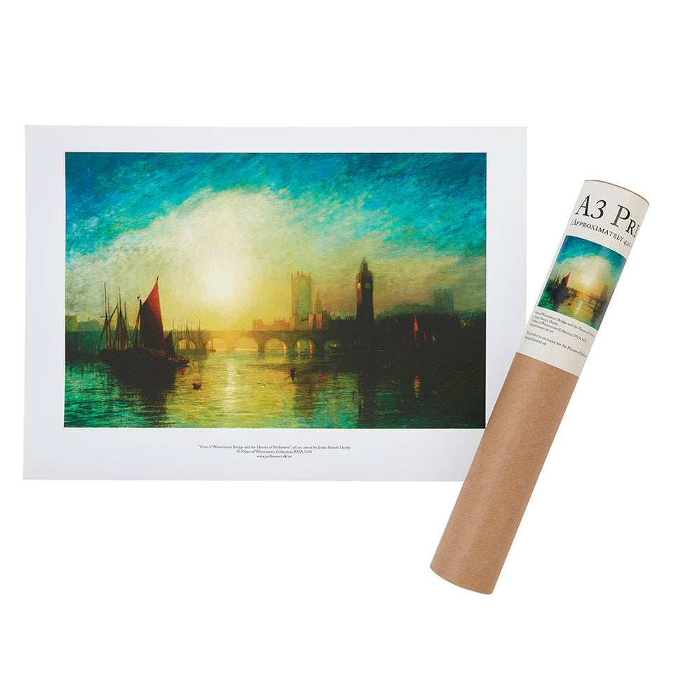 View of Westminster Bridge Print A3