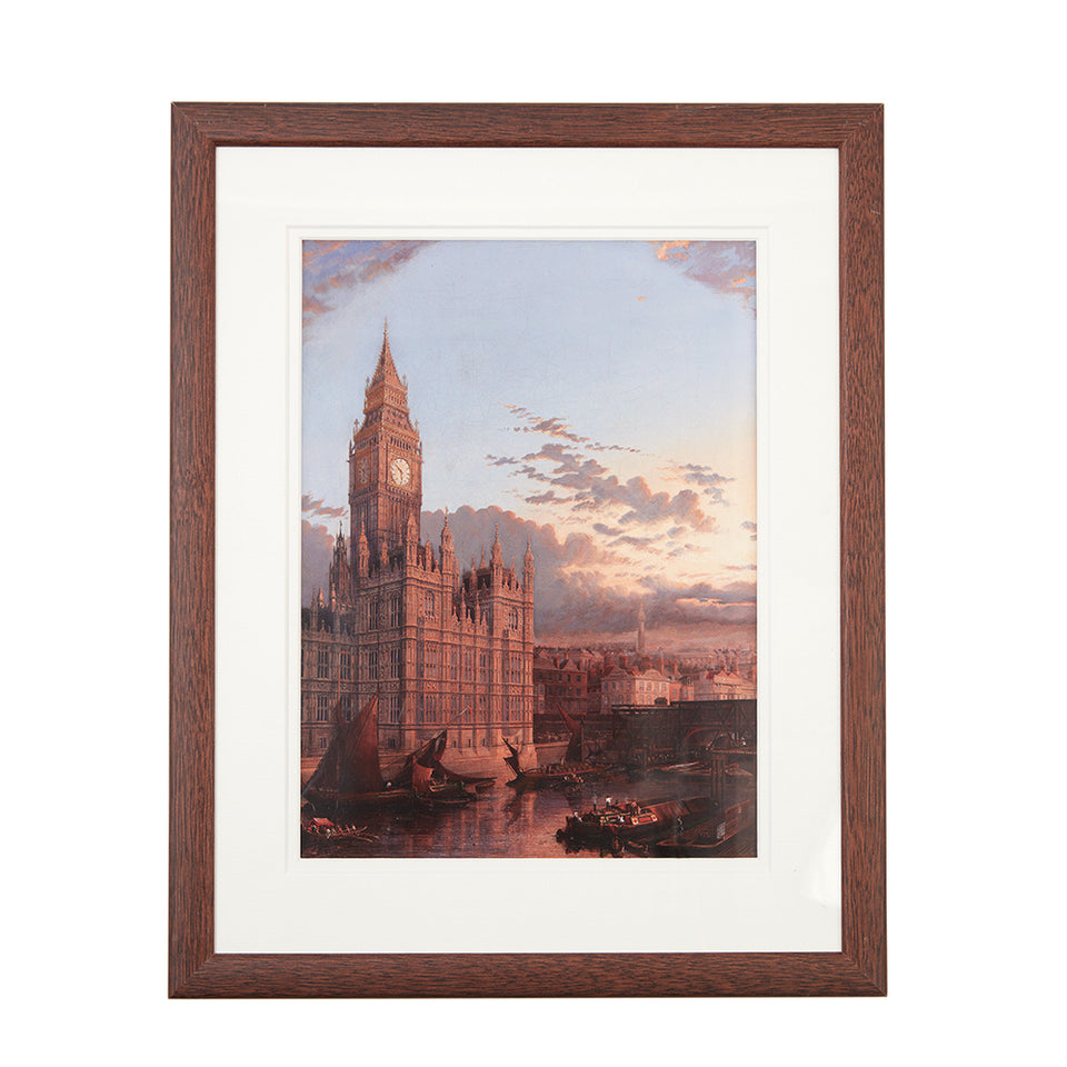 The Building of Westminster Bridge Framed Print featured image