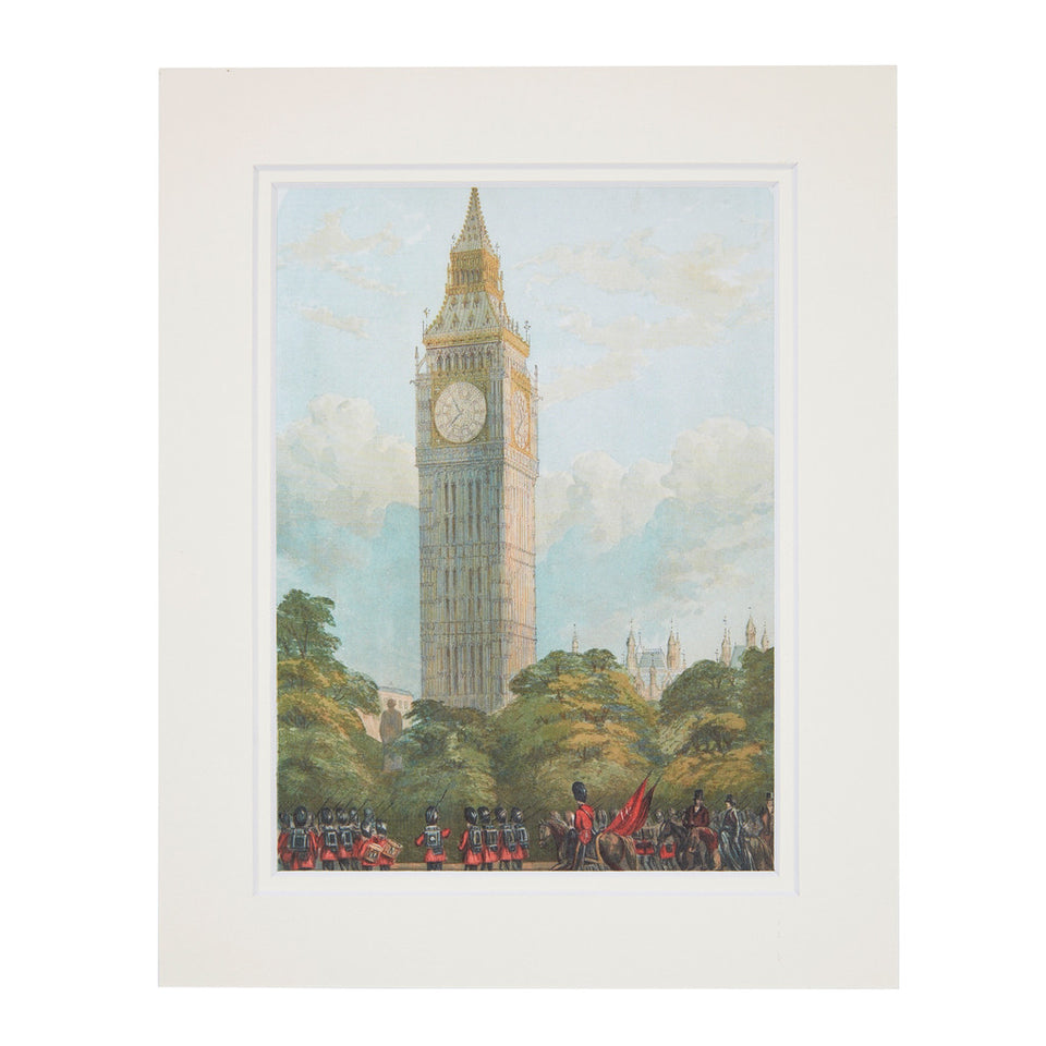The Clock Tower, New Palace Yard Mounted Print featured image