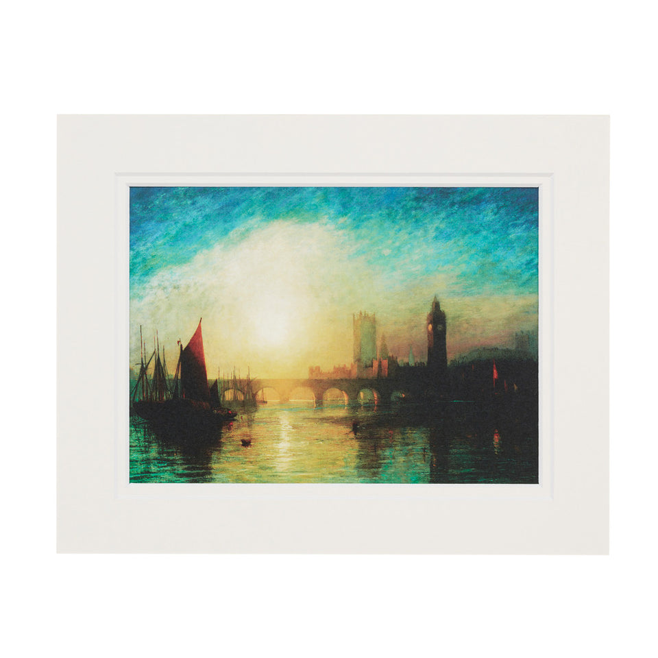 View of Westminster Bridge Mounted Print featured image
