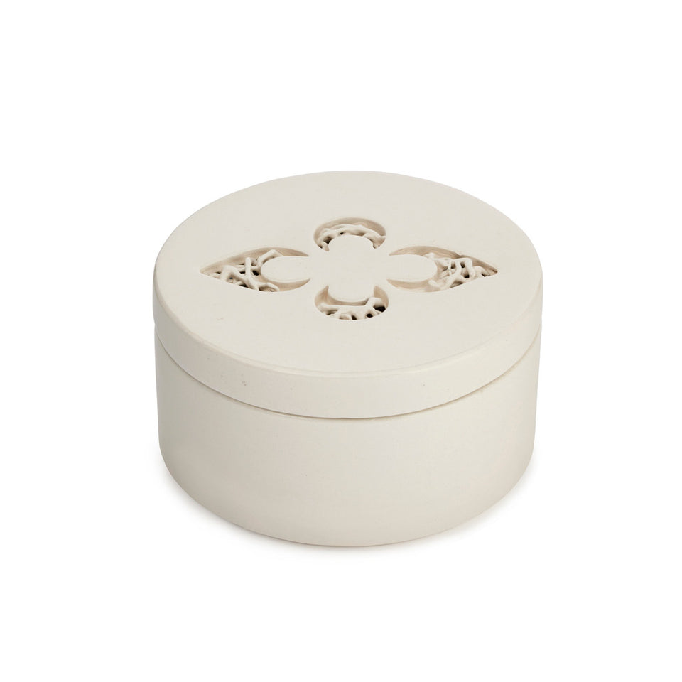 Ceramic Fleur-de-lys Trinket Box featured image
