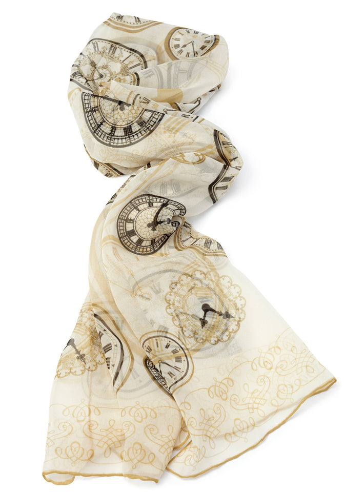 Hand Printed Clock Face Scarf featured image