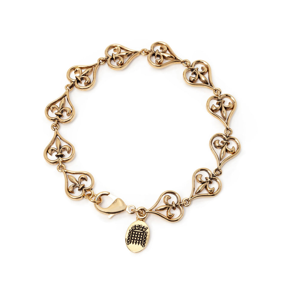18k Gold Plated Fleur-de-Lys Bracelet featured image