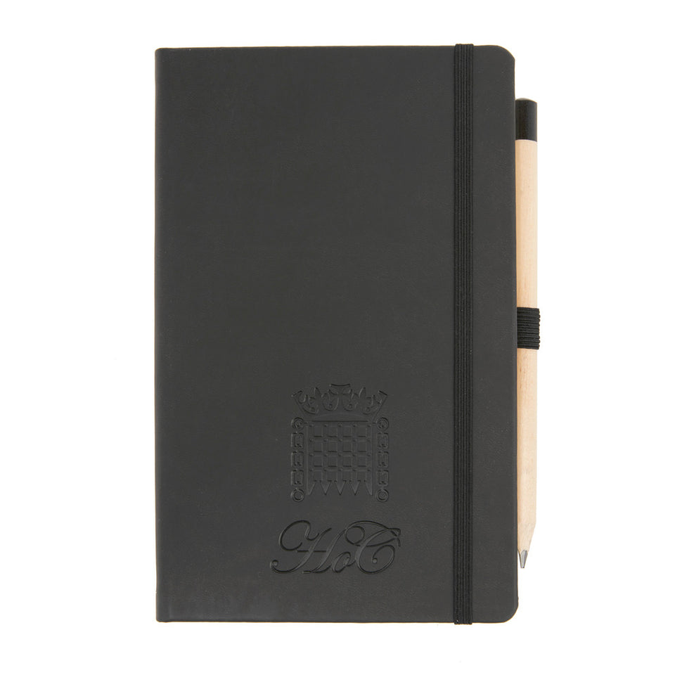 A5 Black Notebook with Pencil featured image