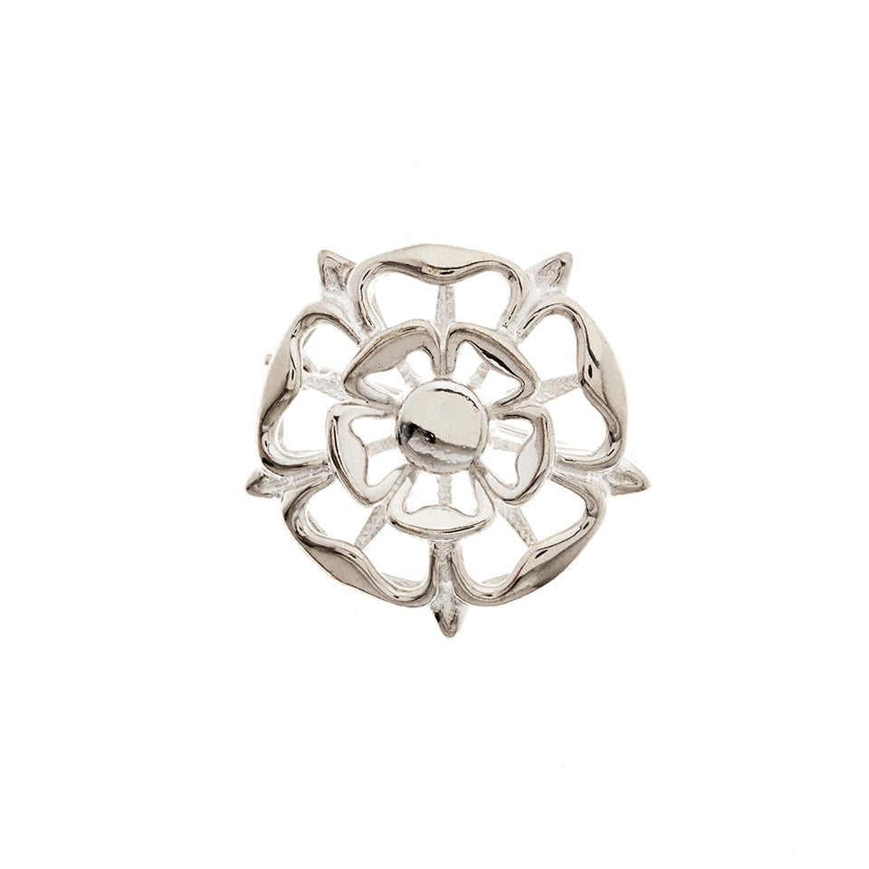 Silver Tudor Rose Brooch featured image