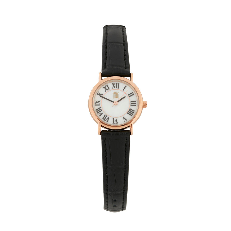 Women's Watch With Black Strap