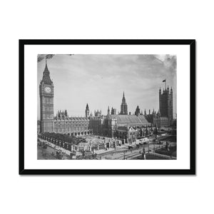 Houses of Parliament from Parliament Square, c.1905 Framed Print