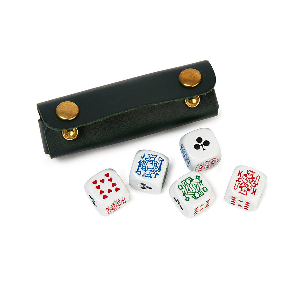 Poker Dice in Recycled Leather Case featured image