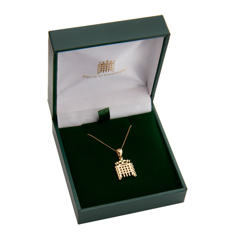 9k Gold Portcullis Necklace