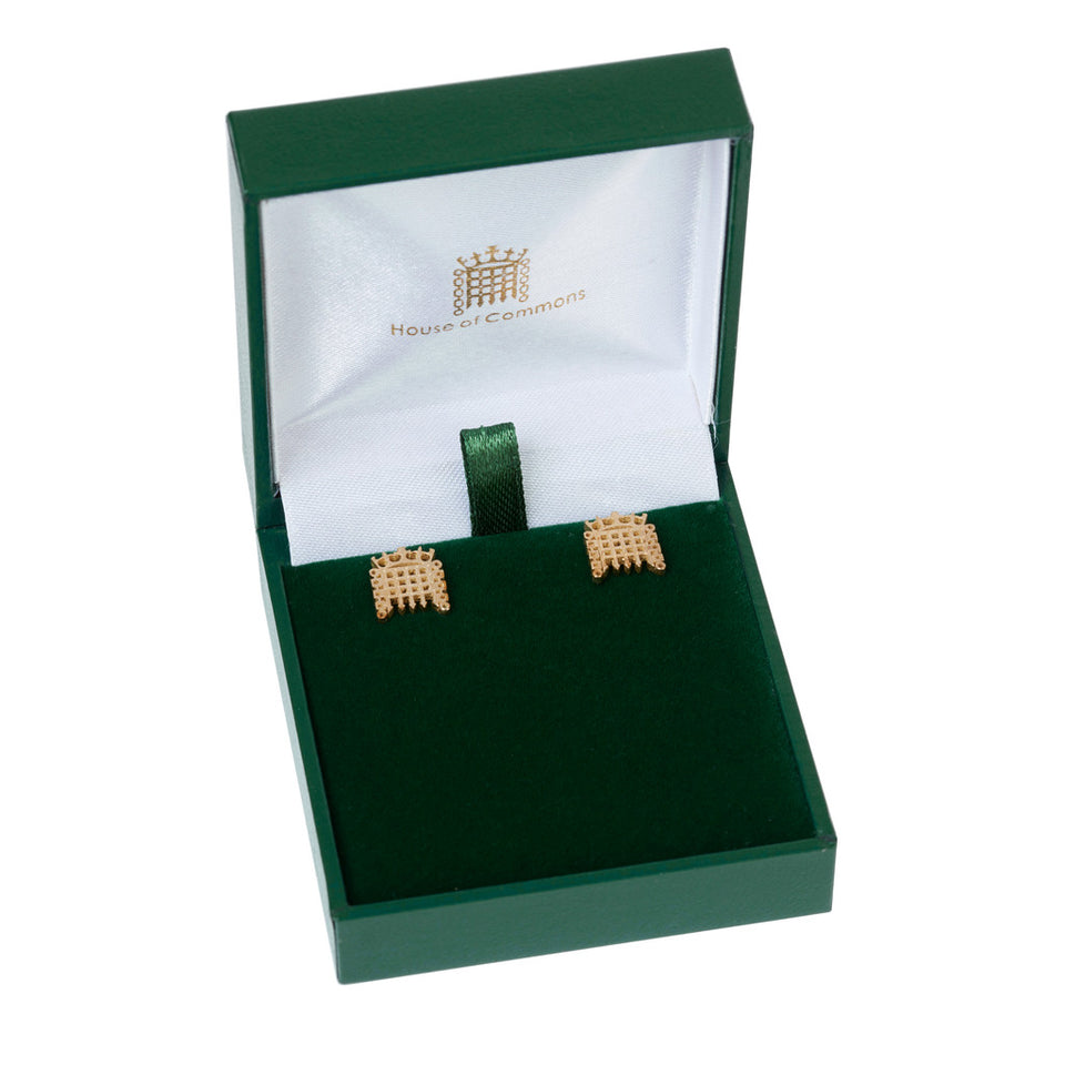 9k Gold Portcullis Earrings featured image