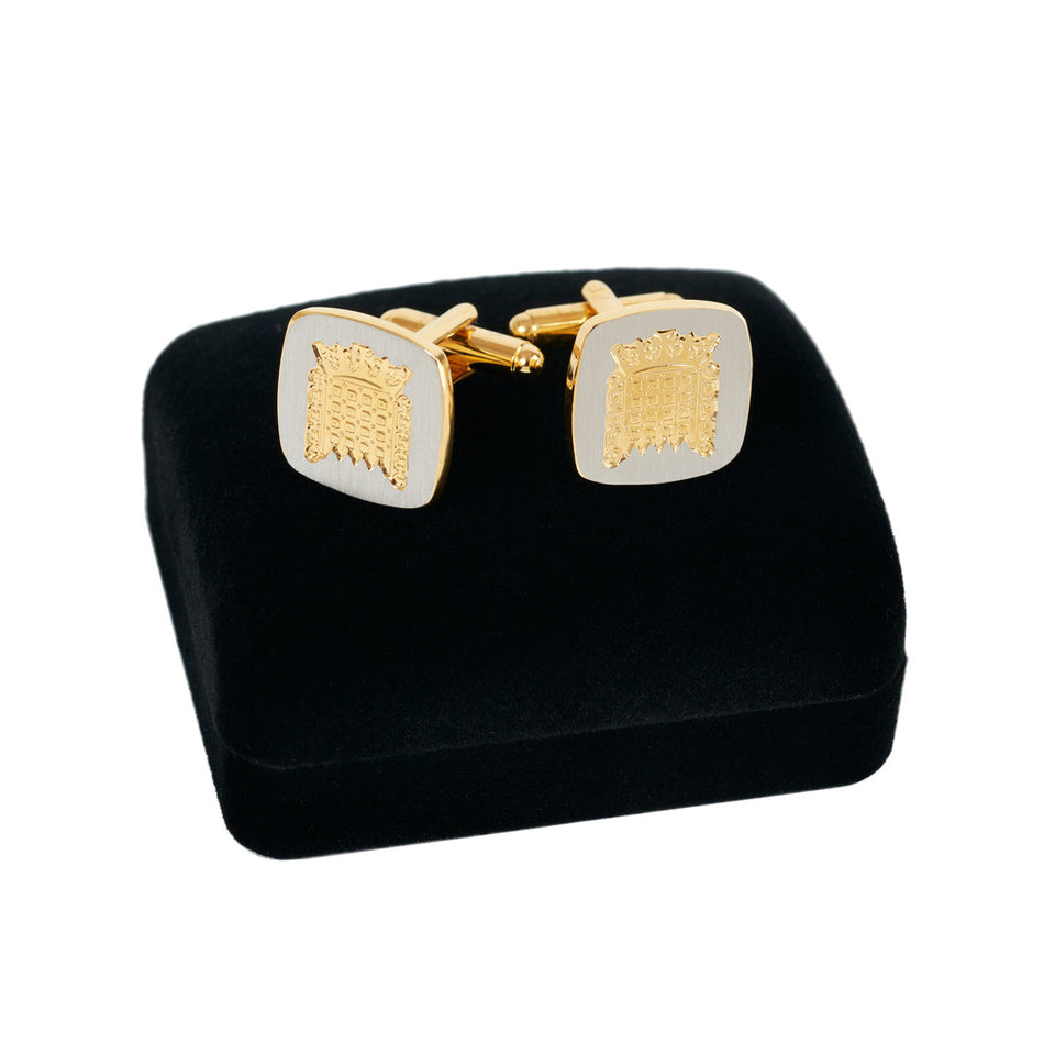 Gold and Silver Portcullis Cufflinks featured image