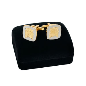 Gold and Silver Portcullis Cufflinks