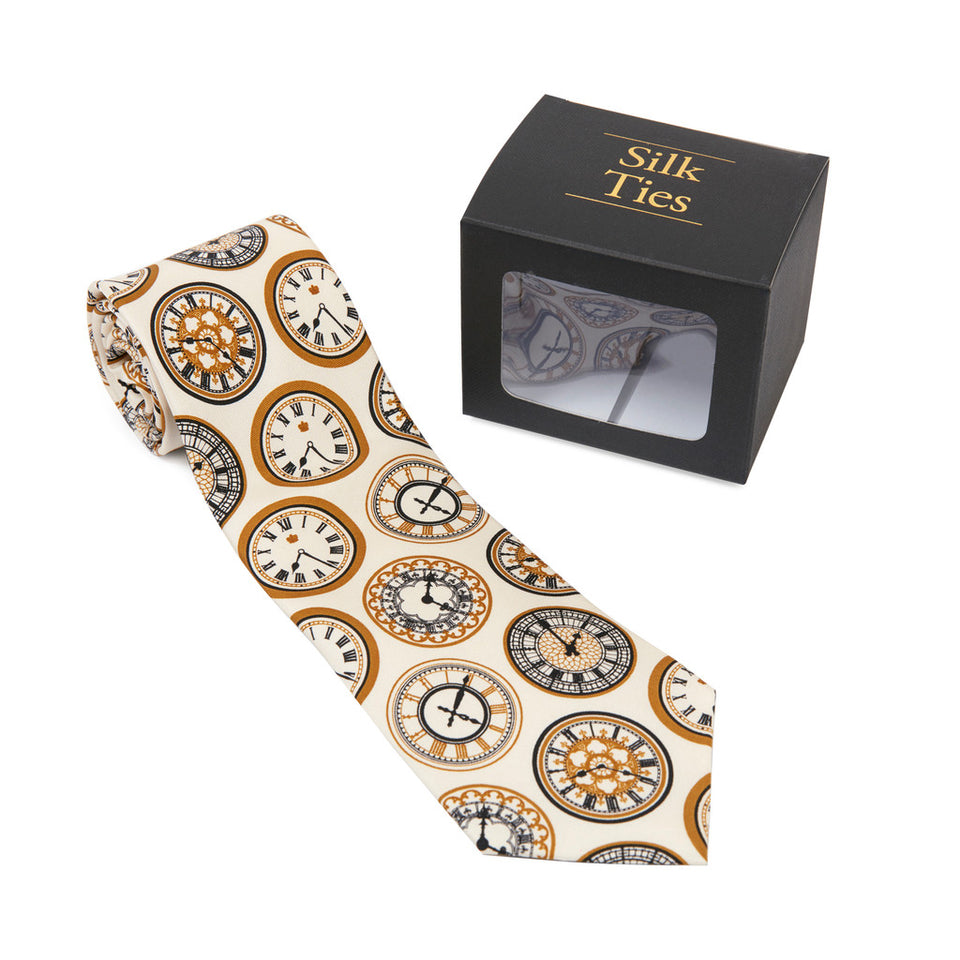 Clock Face Silk Tie featured image