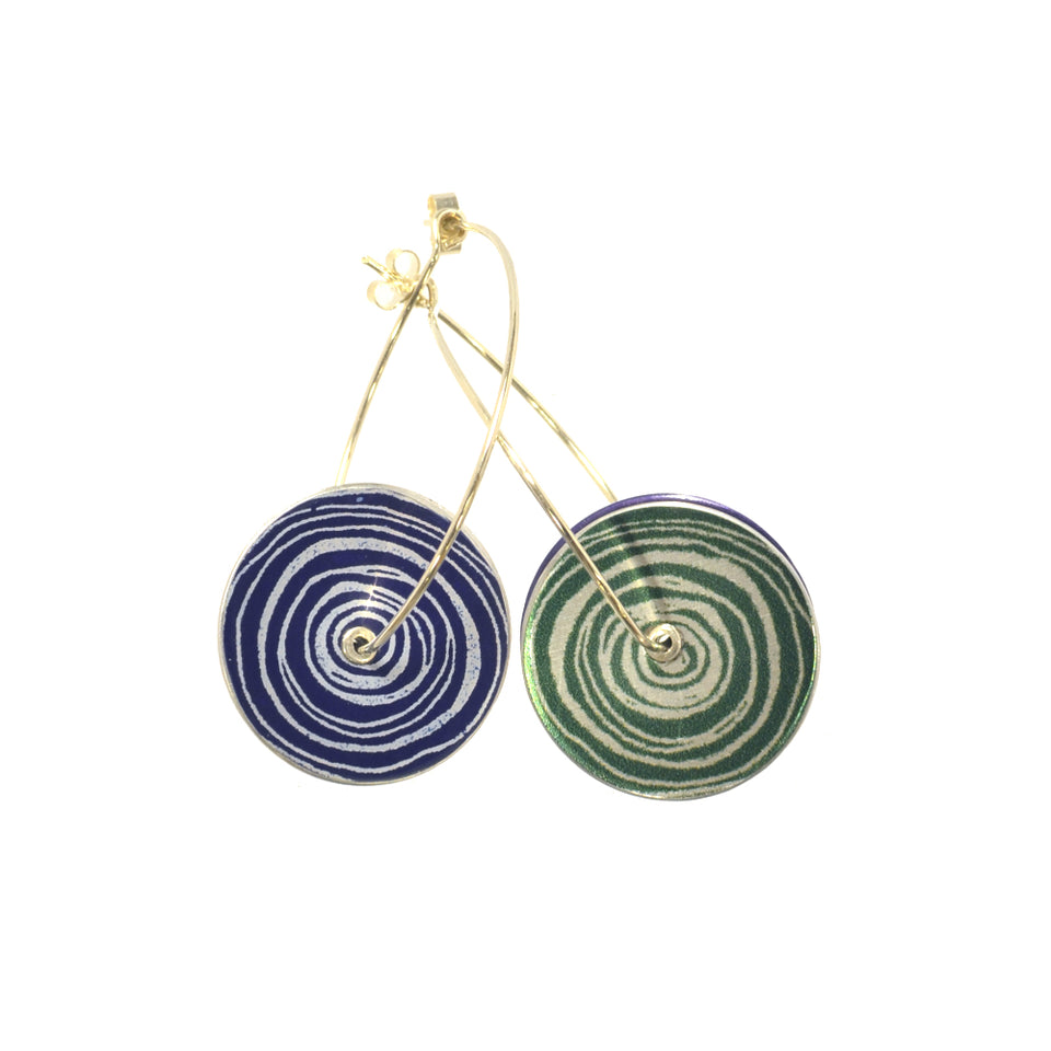 New Dawn Green/Purple Drop Earrings featured image