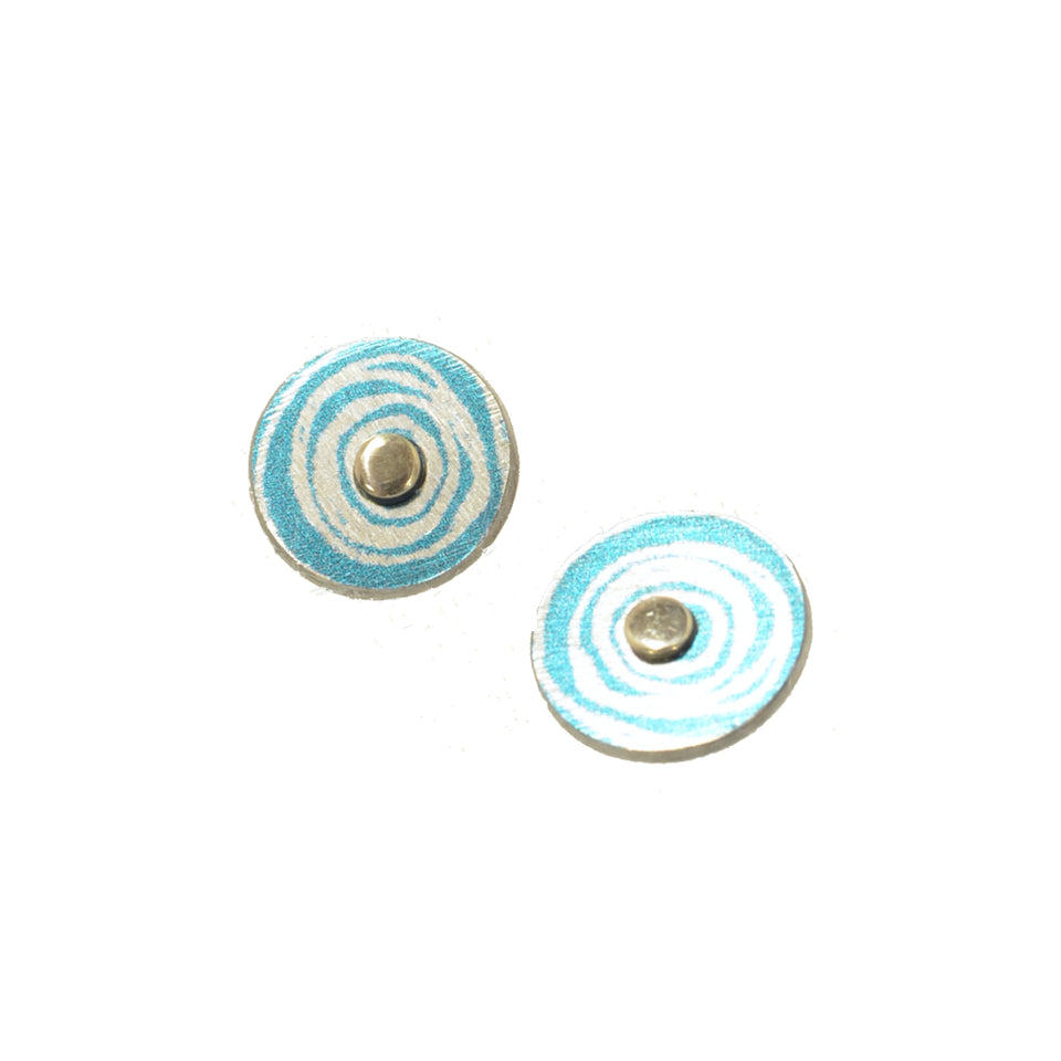 New Dawn Blue Stud Earrings featured image