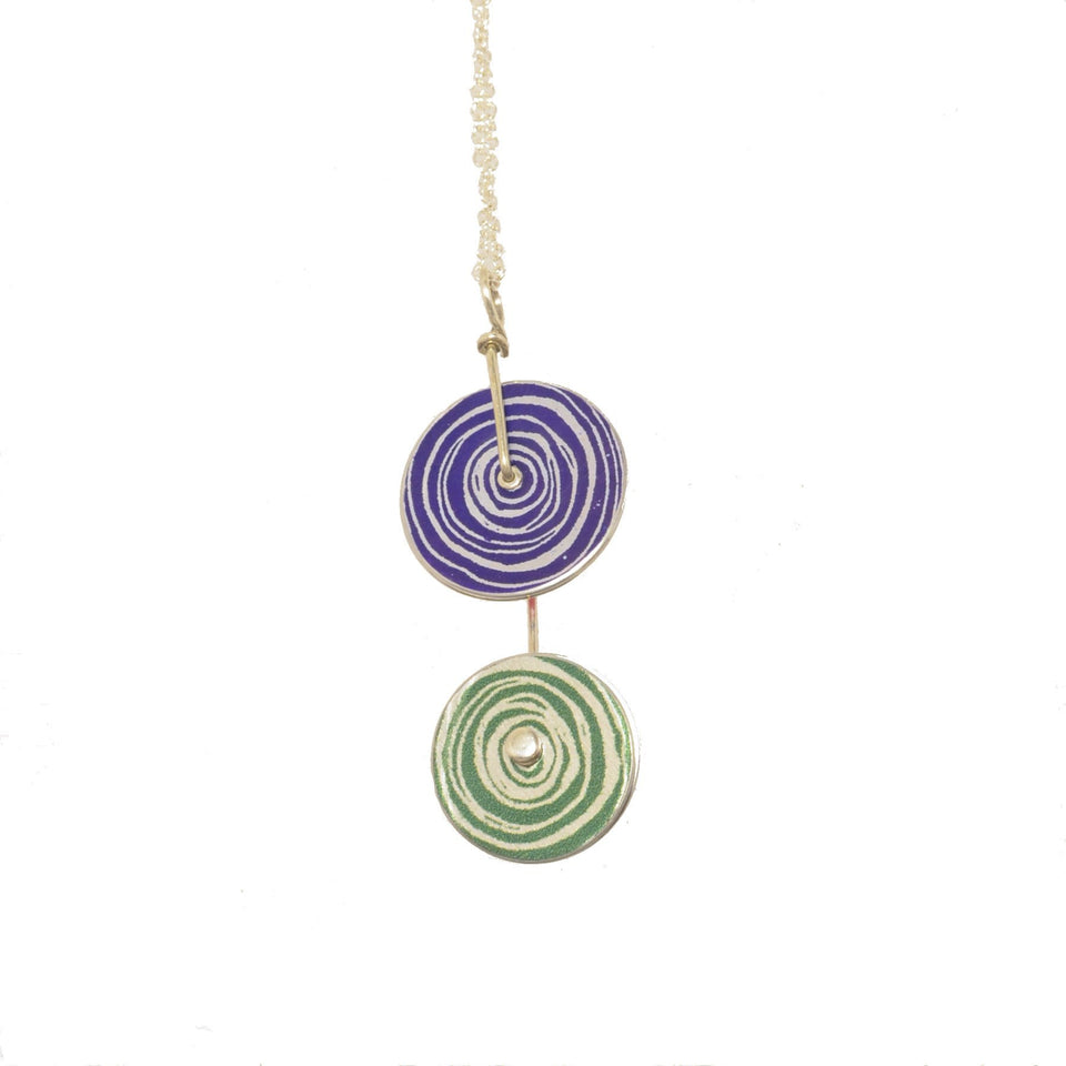 New Dawn Purple/Green Pendant Necklace featured image