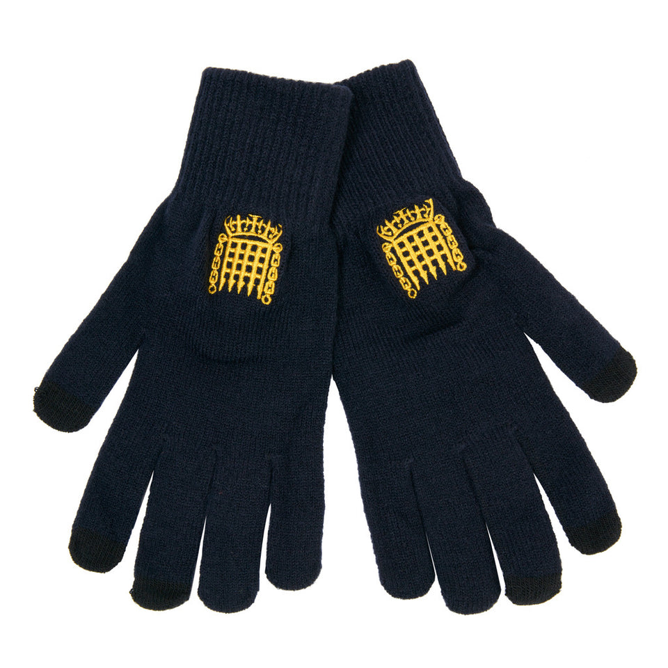Navy Portcullis Gloves featured image