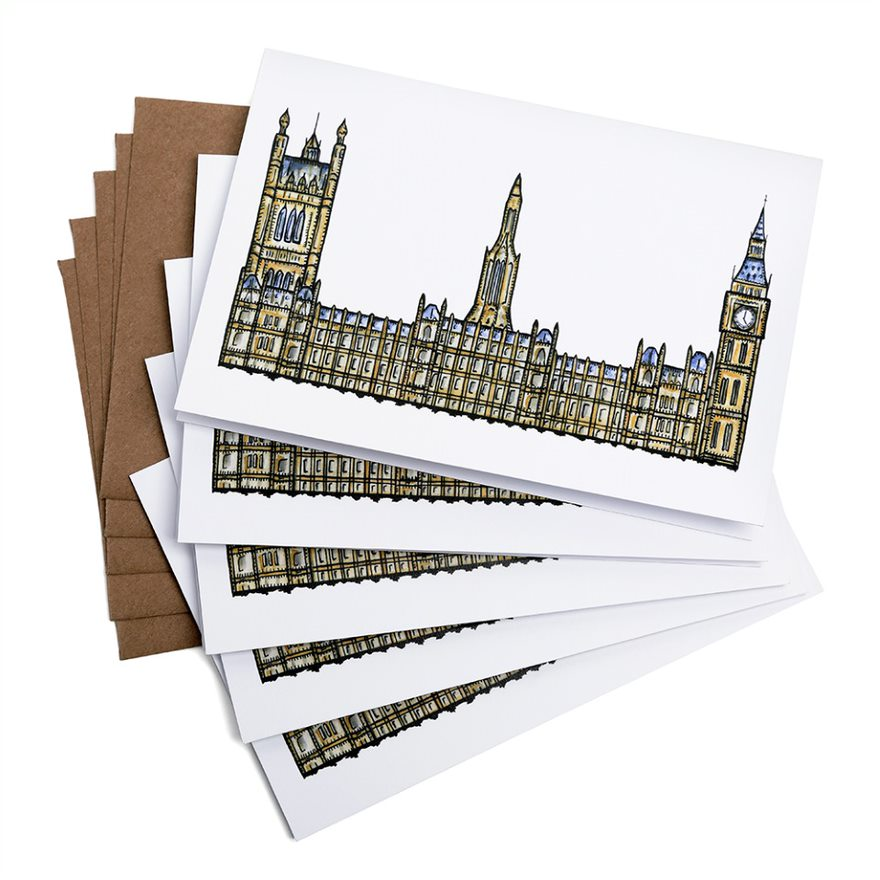 Palace of Westminster Greeting Cards featured image
