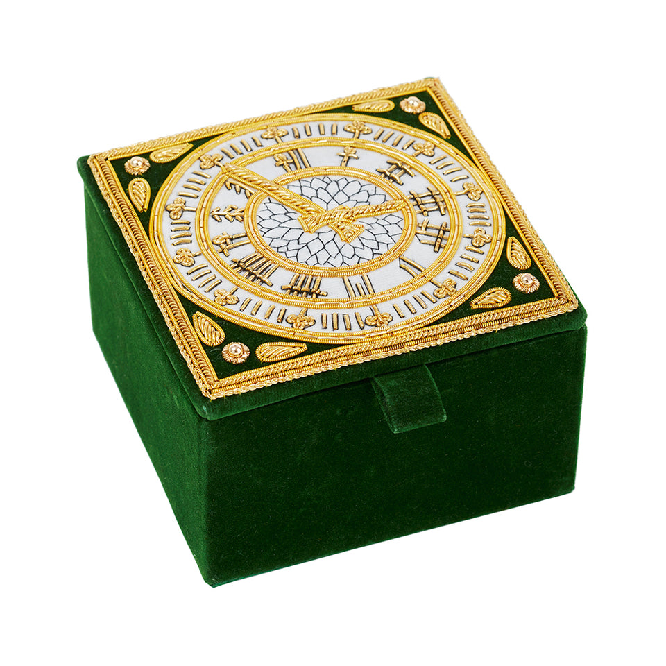 Embroidered Big Ben Clock Face Trinket Box featured image