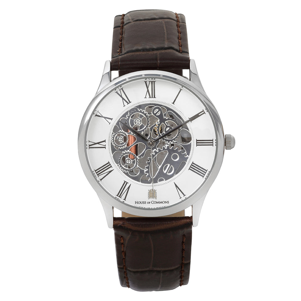 Men's Mechanical Watch with Brown Leather Strap featured image