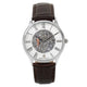 Men's Mechanical Watch with Brown Leather Strap image 1