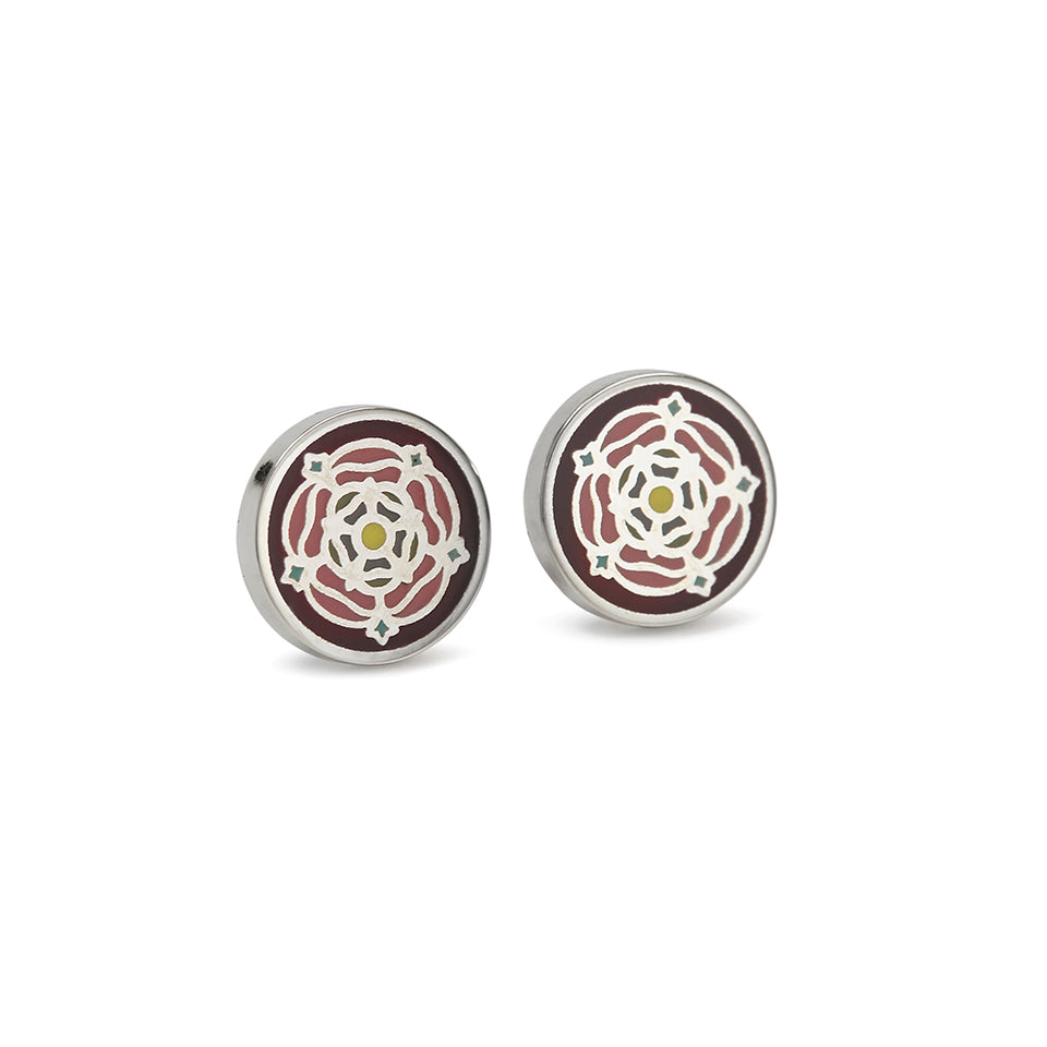 Tudor Rose Enamel Earrings featured image
