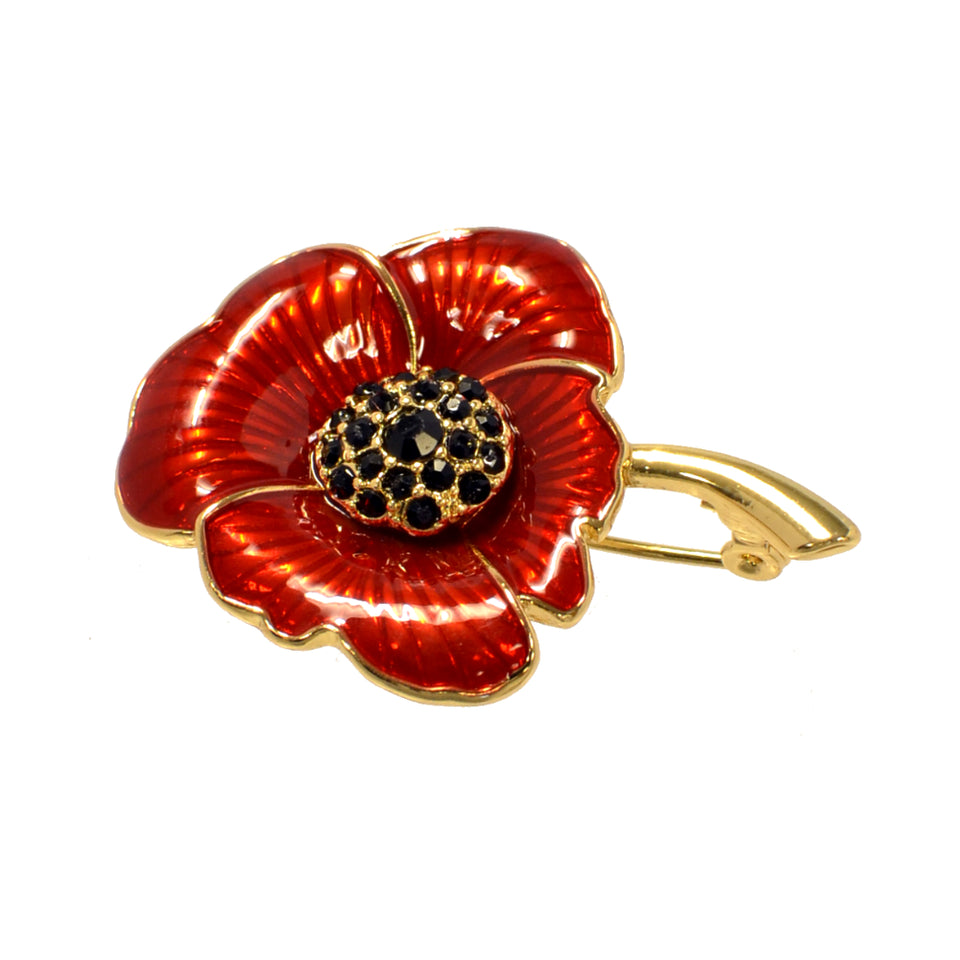 Enamelled Poppy Brooch featured image