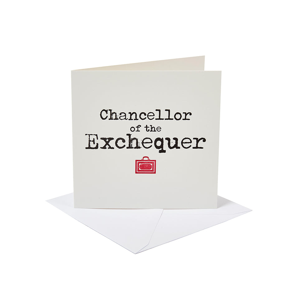 Chancellor of the Exchequer Greetings Card featured image