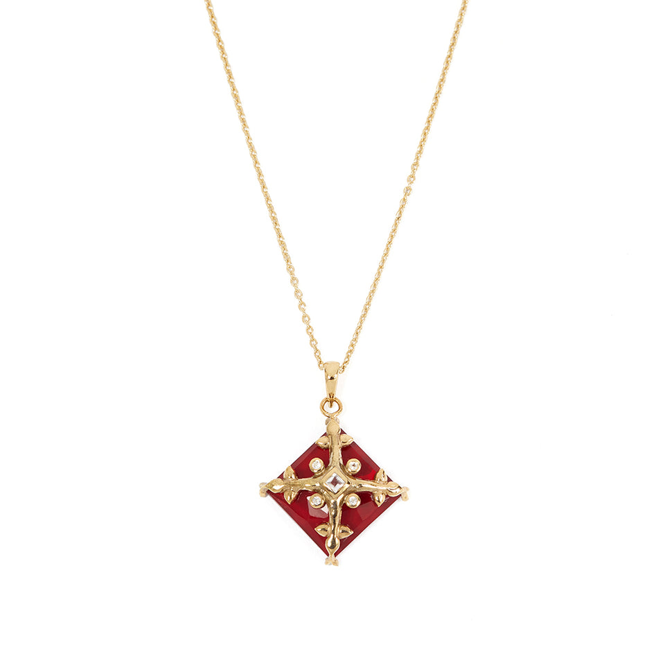 9k Gold-Plated Sterling Silver Tile Necklace