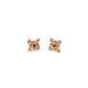 9k Gold-Plated Sterling Silver Tile Earrings - Red image 1