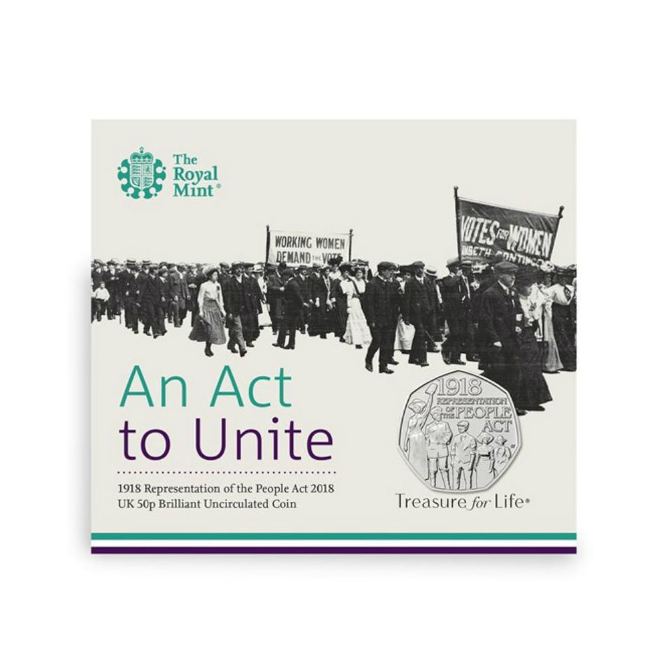 Uncirculated Commemorative 50p Coin - Representation of the People Act 2018 featured image
