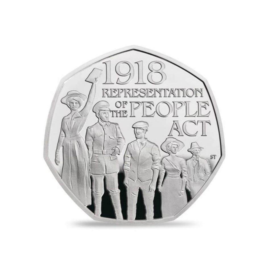 Limited Edition Sterling Silver 50p Coin - Representation of the People Act 2018 featured image