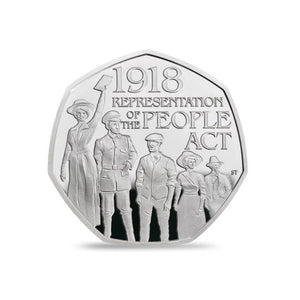 Limited Edition Sterling Silver 50p Coin - Representation of the People Act 2018