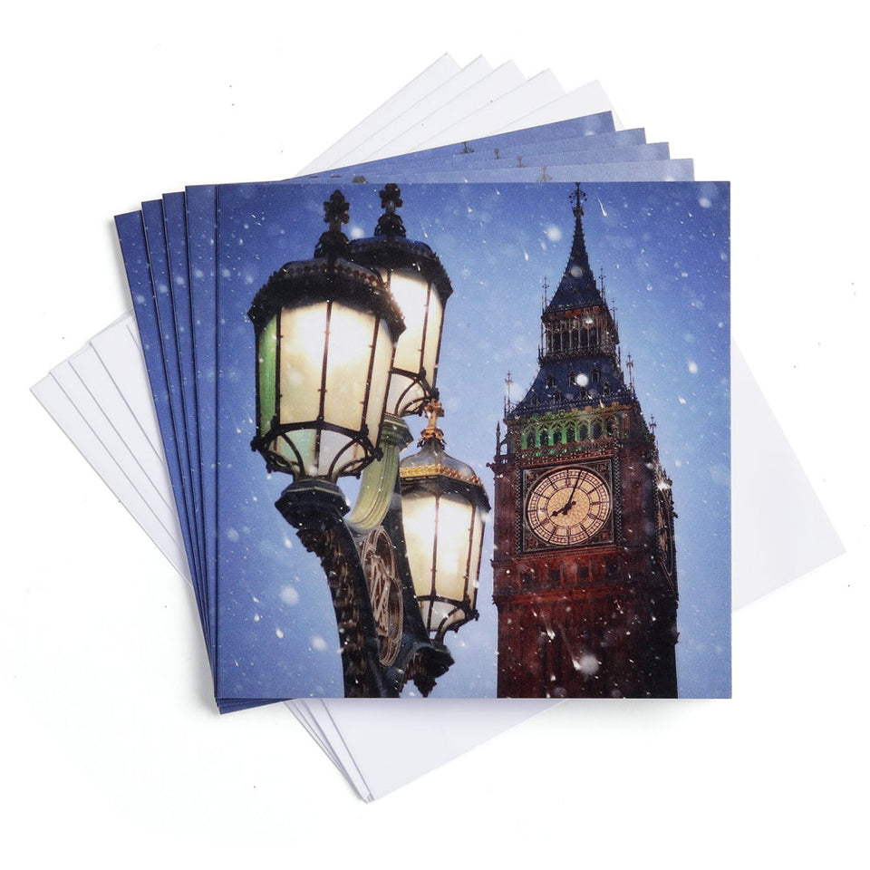 Big Ben and Lantern Christmas Cards - Pack of 5 featured image