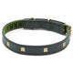 Recycled Leather Portcullis Dog Collar image 1