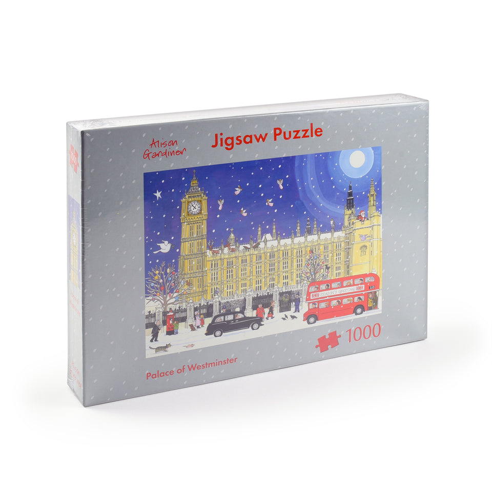 1000-Piece Palace of Westminster at Christmas Jigsaw Puzzle featured image