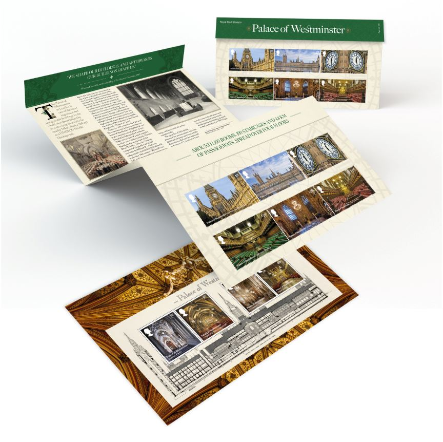 Palace of Westminster 150th Anniversary Presentation Stamps featured image