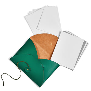 Leather Notecard Set