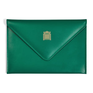 Padded Leather Envelope with Silk Lining