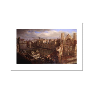Ruins of the Old Palace of Westminster Fine Art Print
