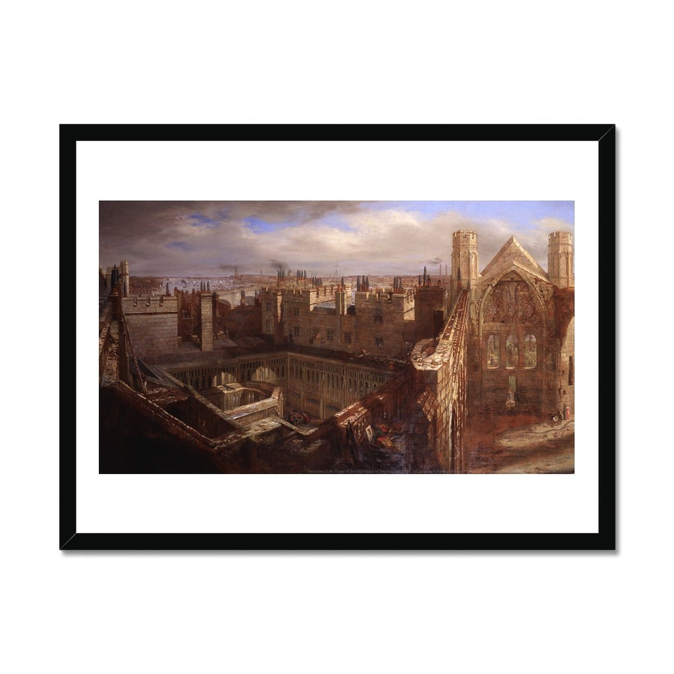 Ruins of the Old Palace of Westminster Framed Print featured image