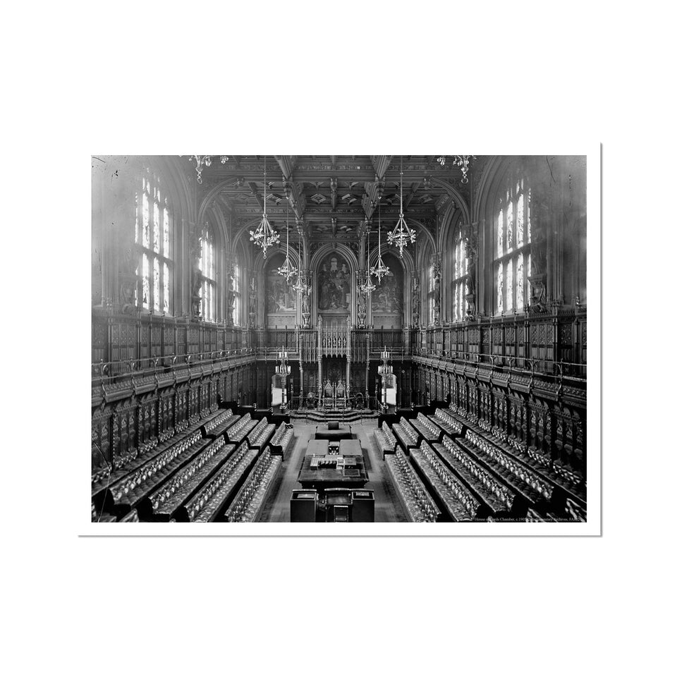 The House of Lords Chamber, 1905 Fine Art Print featured image