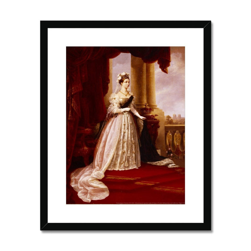 Young Queen Victoria Framed & Mounted Print featured image